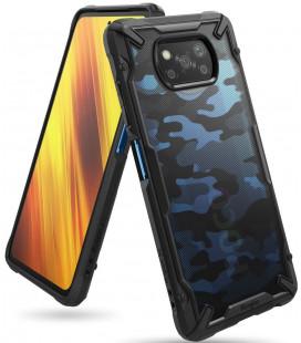 """Juodas (Camo) dėklas Xiaomi Poco X3 NFC telefonui """"Ringke Fusion X"""""""