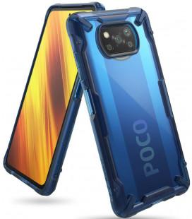 "Mėlynas dėklas Xiaomi Poco X3 NFC telefonui ""Ringke Fusion X"""