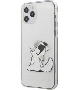 "Skaidrus dėklas Apple iPhone 12/12 Pro telefonui ""KLHCP12MCFNRC Karl Lagerfeld PC/TPU Choupette Eat Cover"""