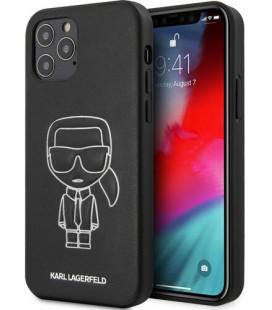 "Juodas dėklas Apple iPhone 12/12 Pro telefonui ""KLHCP12MPCUIKWH Karl Lagerfeld PU Embossed Cover"""