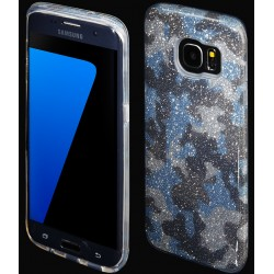 """Mėlynas silikoninis blizgantis dėklas Samsung Galaxy S7 Edge G935F telefonui """"Blink Moro"""""""
