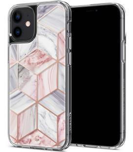 "Rožinis dėklas Apple iPhone 12 Mini telefonui ""Spigen Cyrill Pink Marble"""