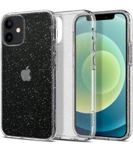 """Skaidrus dėklas su blizgučiais Apple iPhone 12 Mini telefonui """"Spigen Liquid Crystal Glitter"""""""