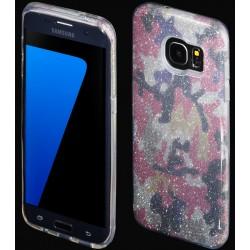 """Rožinis silikoninis blizgantis dėklas Samsung Galaxy S7 Edge G935F telefonui """"Blink Moro"""""""