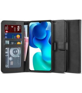 """Juodas atverčiamas dėklas Xiaomi Mi 10T Lite telefonui """"Tech-protect Wallet 2"""""""