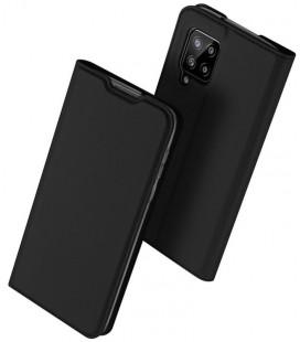 """Juodas atverčiamas dėklas Samsung Galaxy A42 5G telefonui """"Dux Ducis Skin Pro"""""""