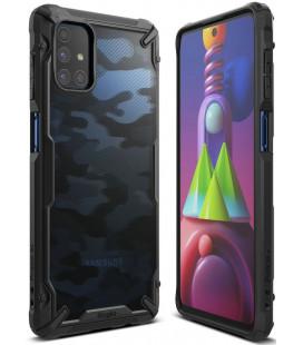 """Juodas (Camo) dėklas Samsung Galaxy M51 telefonui """"Ringke Fusion X"""""""