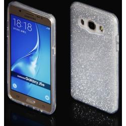 """Sidabrinės spalvos silikoninis blizgantis dėklas Samsung Galaxy J5 2016 J510F telefonui """"Blink"""""""