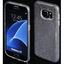 """Juodas silikoninis blizgantis dėklas Samsung Galaxy S7 G930F telefonui """"Blink"""""""