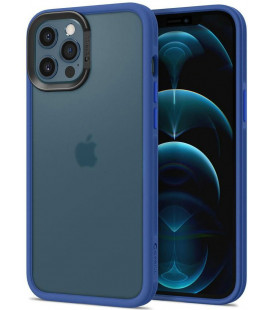 "Mėlynas dėklas Apple iPhone 12/12 Pro telefonui ""Spigen Cyrill Color Brick"""