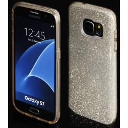 """Auksinės spalvos silikoninis blizgantis dėklas Samsung Galaxy S7 G930F telefonui """"Blink"""""""