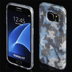 """Mėlynas silikoninis blizgantis dėklas Samsung Galaxy S7 G930F telefonui """"Blink Moro"""""""