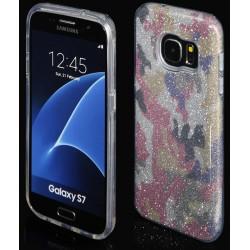 """Rožinis silikoninis blizgantis dėklas Samsung Galaxy S7 G930F telefonui """"Blink Moro"""""""