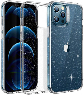 """Skaidrus dėklas su blizgučiais Apple iPhone 12 Pro Max telefonui """"ESR Shimmer"""""""
