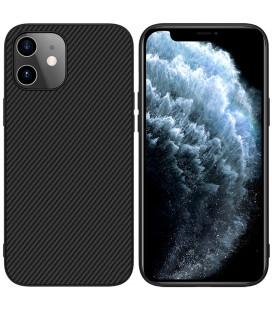 "Juodas dėklas Apple iPhone 12 Mini telefonui ""Nillkin Synthetic Fiber"""