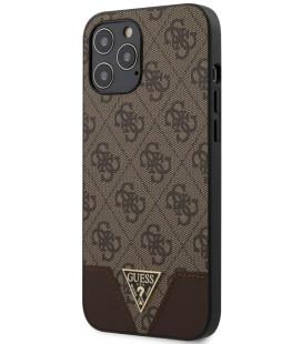 "Rudas dėklas Apple iPhone 12 Pro Max telefonui ""GUHCP12LPU4GHBR Guess 4G Triangle Cover"""