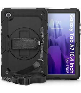 "Juodas dėklas Samsung Galaxy Tab A7 10.4 T500/T505 planšetei ""Tech-Protect Solid360"""