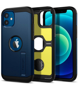 "Mėlynas dėklas Apple iPhone 12 Mini telefonui ""Spigen Tough Armor"""