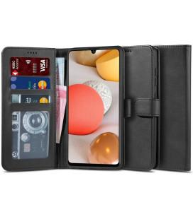 """Juodas atverčiamas dėklas Samsung Galaxy A42 5G telefonui """"Tech-protect Wallet 2"""""""