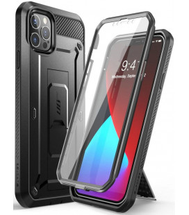 "Juodas dėklas Apple iPhone 12 Pro Max telefonui ""Supcase Unicorn Beetle Pro"""