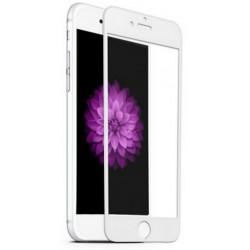Apple iPhone 6 6s lenktas baltas apsauginis grūdintas stiklas ekranui