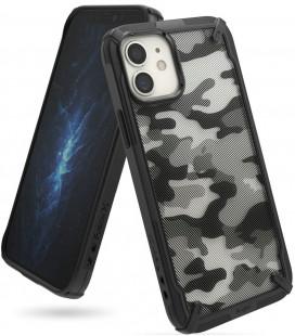 """Juodas (Camo) dėklas Apple iPhone 12 Mini telefonui """"Ringke Fusion X"""""""