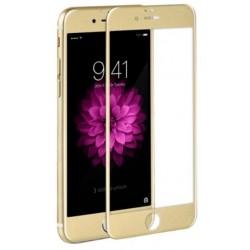 Lenktas auksinės spalvos apsauginis grūdintas stiklas Apple iPhone 6/6s telefonui