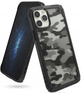 """Juodas (Camo) dėklas Apple iPhone 12/12 Pro telefonui """"Ringke Fusion X"""""""