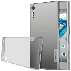 """Pilkas silikoninis dėklas Sony Xperia XZ telefonui """"Nillkin Nature"""""""