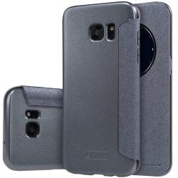 """Atverčiamas juodas dėklas Samsung Galaxy S7 Edge telefonui """"Nillkin Sparkle S-View"""""""