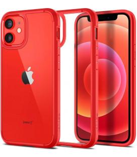"Raudonas dėklas Apple iPhone 12 Mini telefonui ""Spigen Ultra Hybrid"""