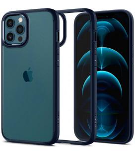 "Mėlynas dėklas Apple iPhone 12 Pro Max telefonui ""Spigen Ultra Hybrid"""