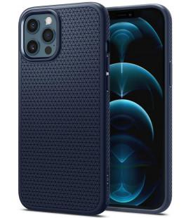 "Mėlynas dėklas Apple iPhone 12/12 Pro telefonui ""Spigen Liquid Air"""