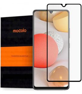 """Juodas apsauginis grūdintas stiklas Samsung Galaxy A42 5G telefonui """"Mocolo TG Full Glue"""""""