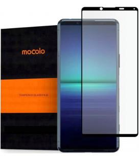 """Juodas apsauginis grūdintas stiklas Sony Xperia 5 II telefonui """"Mocolo TG Full Glue"""""""