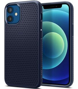 """Mėlynas dėklas Apple iPhone 12 Mini telefonui """"Spigen Liquid Air"""""""