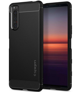 "Juodas dėklas Sony Xperia 5 II telefonui ""Spigen Rugged Armor"""