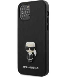 "Juodas dėklas Apple iPhone 12 Pro Max telefonui ""KLHCP12LIKMSBK Karl Lagerfeld Saffiano Iconic Cover"""