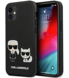 "Juodas dėklas Apple iPhone 12 Mini telefonui ""KLHCP12SPCUSKCBK Karl Lagerfeld PU Karl &Choupette Cover"""