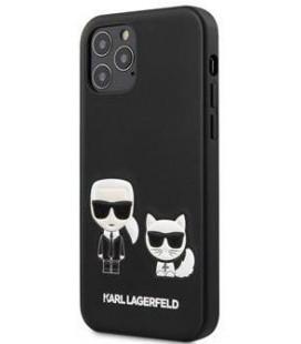 "Juodas dėklas Apple iPhone 12 Pro Max telefonui ""KLHCP12LPCUSKCBK Karl Lagerfeld PU Karl &Choupette Cover"""