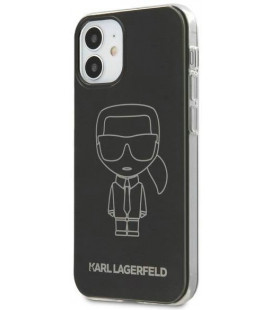 KLHCP12SPCUMIKBK Karl Lagerfeld PC/TPU Metallic Iconic Outline Cover for iPhone 12 mini 5.4 Black