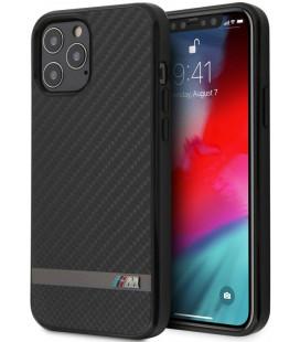 """Juodas dėklas Apple iPhone 12/12 Pro telefonui """"BMHCP12MASCFBK BMW Carbon & Alu Cover"""""""