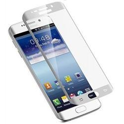 """Stiklo apsauga - lenktas sidabrinės splapvs grūdintas stiklas """"Tempered Glass"""" Samsung Galaxy S7 Edge G935F telefonui."""