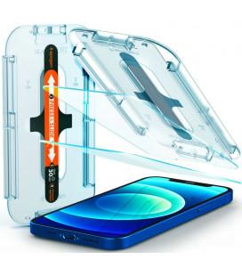 "Apsauginis grūdintas stiklas Apple iPhone 12/12 Pro telefonui ""Spigen Glas.TR EZ Fit"""