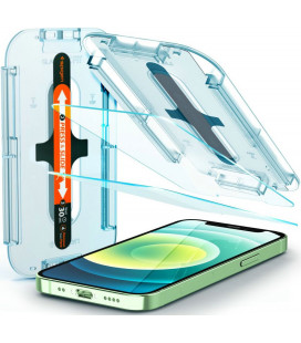 "Apsauginis grūdintas stiklas Apple iPhone 12 Mini telefonui ""Spigen Glas.TR EZ Fit"""