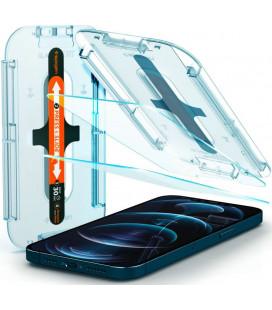 "Apsauginis grūdintas stiklas Apple iPhone 12 Pro Max telefonui ""Spigen Glas.TR EZ Fit"""