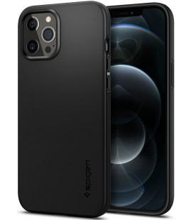 "Juodas dėklas Apple iPhone 12 Pro Max telefonui ""Spigen Thin Fit"""