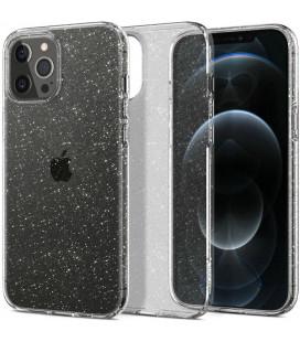"Skaidrus dėklas su blizgučiais Apple iPhone 12 Pro Max telefonui ""Spigen Liquid Crystal Glitter"""