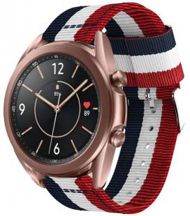 "Mėlyna/raudona apyrankė Samsung Galaxy Watch 3 45mm laikrodžiui ""Tech-Protect Welling"""