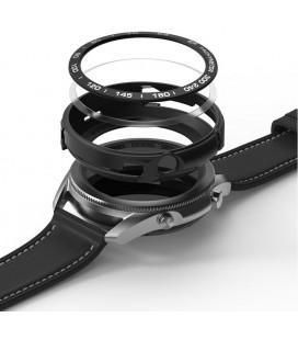 """Juodas apsauginis dėklas Samsung Galaxy Watch 3 45mm laikrodžiui """"Ringke Air & Bezel Styling"""""""
